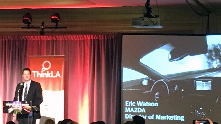 Motor City West and Think LA and Mark Watson, Director of Marketing at Mazda