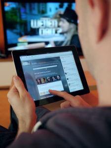 Social Media and watching television